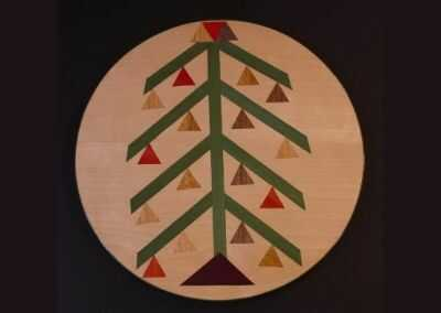 lazy susan with a christmas tree